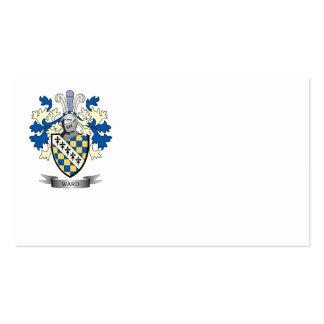 Escudo de armas de la sala tarjetas de visita
