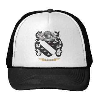 Escudo de armas de Laker escudo de la familia Gorros