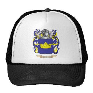 Escudo de armas de las coronas gorra