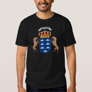 Escudo de armas de las islas Canarias (España) Camisas