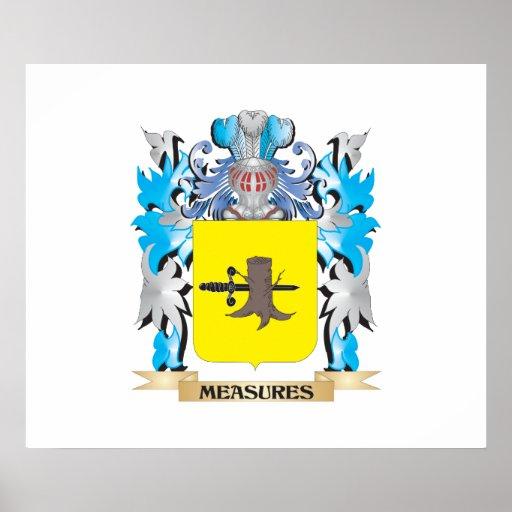 Escudo de armas de las medidas - escudo de la posters