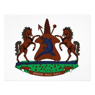 Escudo de armas de Lesotho Flyer Personalizado