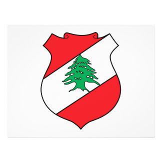 Escudo de armas de Líbano Tarjetón