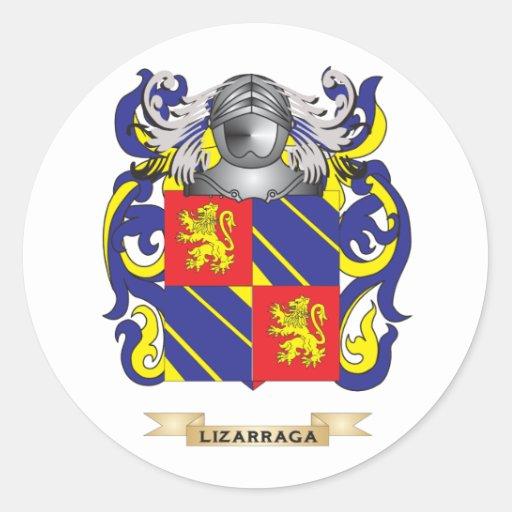 Escudo de armas de Lizarraga (escudo de la Pegatina Redonda
