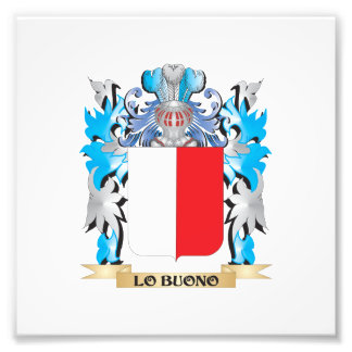Escudo de armas de Lo-Buono - escudo de la familia Fotografía