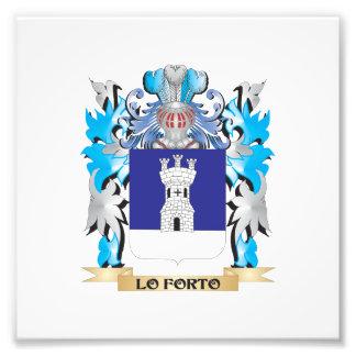 Escudo de armas de Lo-Forto - escudo de la familia Foto