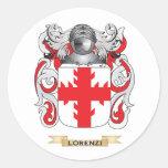Escudo de armas de Lorenzi (escudo de la familia) Pegatina Redonda