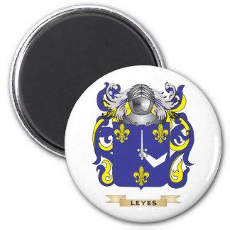 Escudo de armas de los Leyes escudo de la familia Imanes Para Frigoríficos
