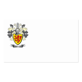 Escudo de armas de los pozos tarjetas de visita