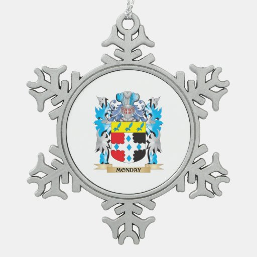 Escudo de armas de lunes - escudo de la familia adorno