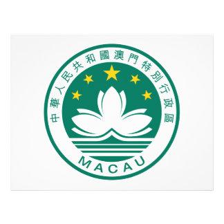 Escudo de armas de Macao Tarjeta Publicitaria