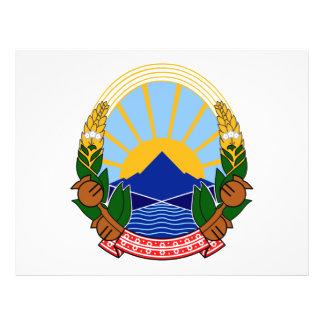 Escudo de armas de Macedonia Tarjetones