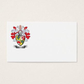 Escudo de armas de Mahony Tarjeta De Negocios