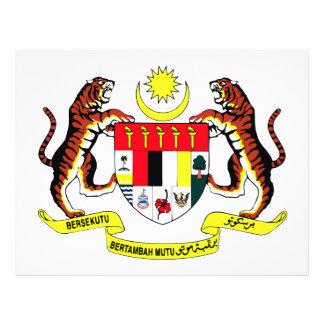 Escudo de armas de Malasia Tarjetas Informativas