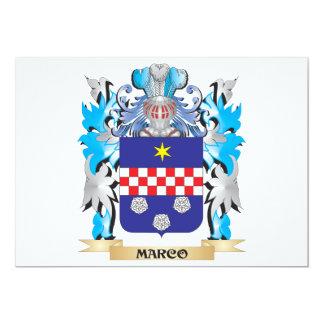 Escudo de armas de Marco - escudo de la familia Invitaciones Personalizada