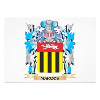 Escudo de armas de Marcos - escudo de la familia Invitaciones Personales