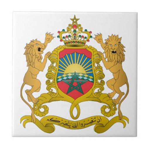 Escudo de armas de Marruecos Teja Ceramica