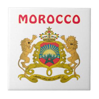 Escudo de armas de Marruecos Azulejo Cuadrado Pequeño