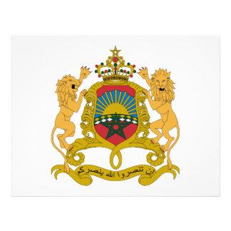 Escudo de armas de Marruecos Flyer Personalizado