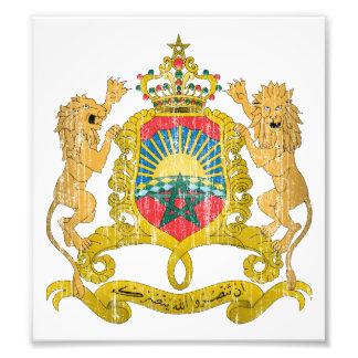 Escudo de armas de Marruecos Fotografias
