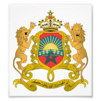 Escudo de armas de Marruecos Fotografías