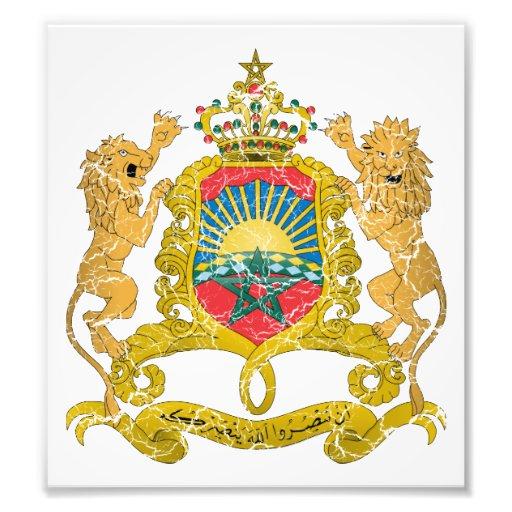 Escudo de armas de Marruecos Impresion Fotografica