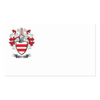 Escudo de armas de Martin Tarjetas De Visita