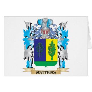 Escudo de armas de Matías - escudo de la familia Tarjeta