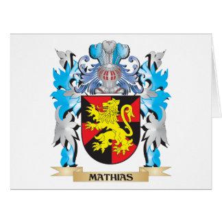 Escudo de armas de Matías - escudo de la familia Felicitacion
