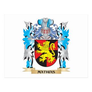 Escudo de armas de Matías - escudo de la familia Tarjetas Postales