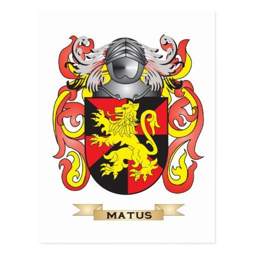 Escudo de armas de Matus (escudo de la familia) Postal