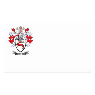 Escudo de armas de McCarthy Tarjetas De Visita