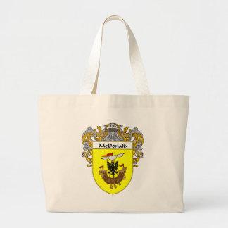 Escudo de armas de McDonald (cubierto) Bolsa Tela Grande
