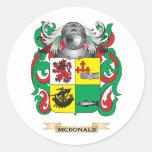 Escudo de armas de McDonald (pizarra) (escudo de Etiquetas Redondas