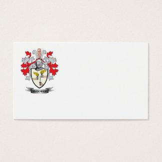 Escudo de armas de McGowan Tarjeta De Negocios