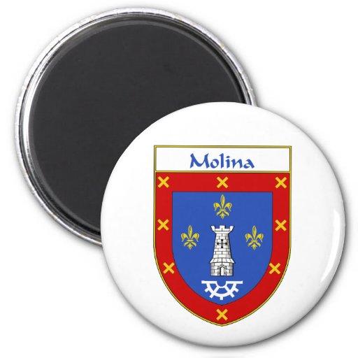 Escudo de armas de Molina/escudo de la familia Imán Redondo 5 Cm