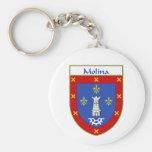 Escudo de armas de Molina/escudo de la familia Llaveros Personalizados