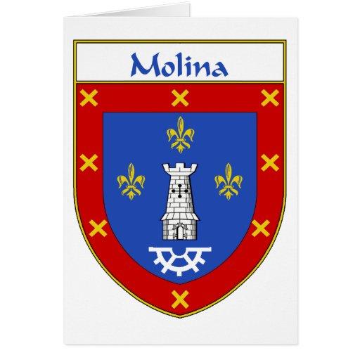 Escudo de armas de Molina/escudo de la familia Tarjetón