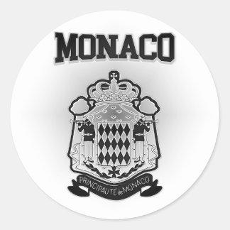 Escudo de armas de Mónaco Pegatina Redonda