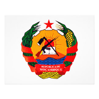 Escudo de armas de Mozambique Tarjeta Publicitaria