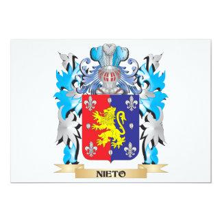 Escudo de armas de Nieto - escudo de la familia Invitación 12,7 X 17,8 Cm