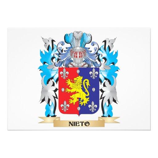 Escudo de armas de Nieto - escudo de la familia Invitaciones Personalizada