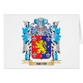Escudo de armas de Nieto - escudo de la familia Felicitación