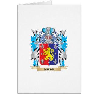 Escudo de armas de Nieto - escudo de la familia Tarjetón