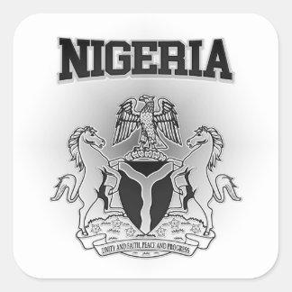 Escudo de armas de Nigeria Pegatina Cuadrada