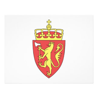 Escudo de armas de Noruega Tarjeton