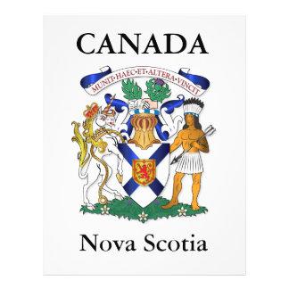 Escudo de armas de Nueva Escocia Folleto 21,6 X 28 Cm
