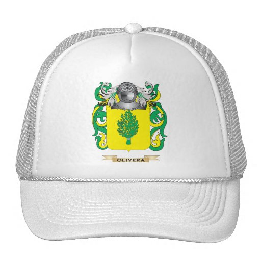 Escudo de armas de Olivera (escudo de la familia) Gorros