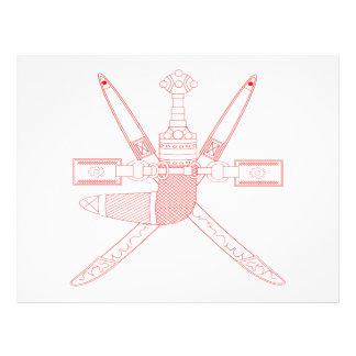 Escudo de armas de Omán Tarjetones
