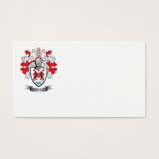 Escudo de armas de O'Neill Tarjeta De Negocios